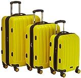 Packenger Premium Koffer 3er-Set Velvet, M/L/XL, Lemon-Gelb