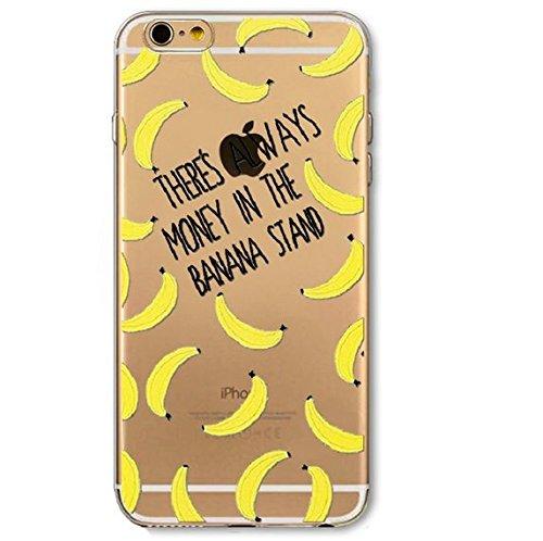Coque en silicone souple pour iphone 4 et 4S Modèle petite pasteque Coque Banane 4 et 4S