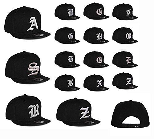 Imagen de 4sold  gorro con 3d bordado letra  de béisbol hip hop  sombrero gorro de invierno negro j talla única alternativa