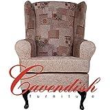 Cavendish Furniture Maria Deep Seat Orthopedic Chair, Multi-Colour, 21-Inch