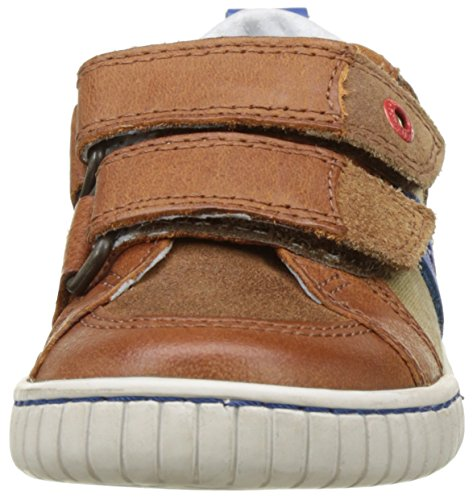 Kickers Winner, Baskets Basses garçon Marron (Camel Bleu)