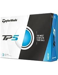 TaylorMade TP5 X Bolas de Golf, Unisex Adulto, Blanco, Docena