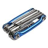 TAIYCYXGAN Multifunktionswerkzeug Fahrrad Werkzeugset Bike Repair Tool Fahrrad-Kombiwerkzeug Blau