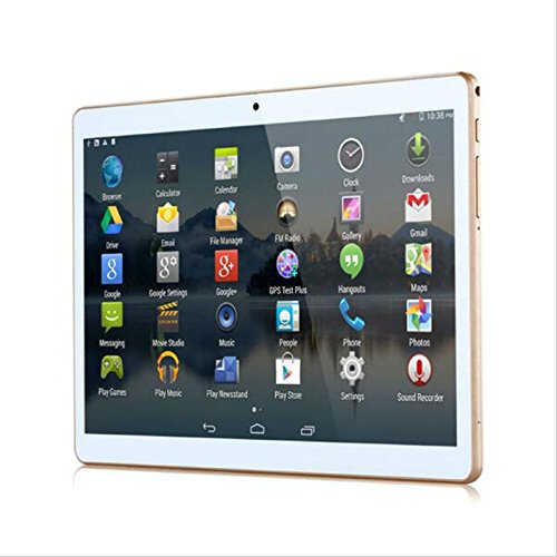 2017 new 4G LTE 10 inch Tablet PC Android 6.0 PC Pad 2560 * 1600 IPS quad-core 2GB memory 64GB ROM dual SIM card FDD mobile phone call(white)