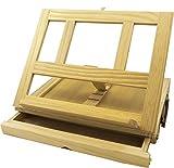 Cavalletto da tavolo per la pittura, kit da viaggio per l'artista (33,6 cm x 25,5 cm x 7cm)