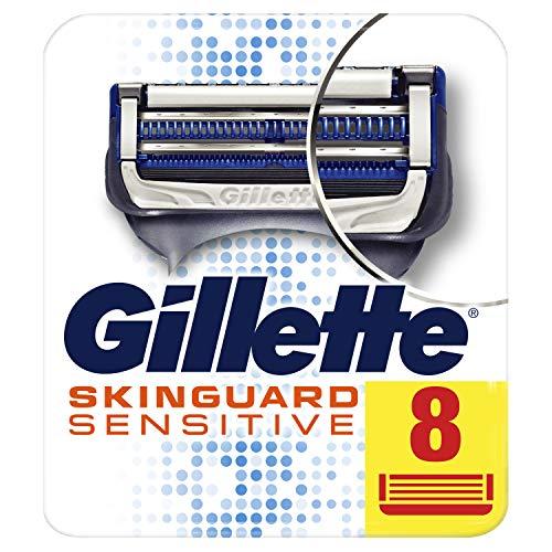 Gillette SkinGuard Sensitive Rasierklingen, Für Männer, 8Stück, Briefkastenfähige Verpackung (Gillette Sensitive Rasierklingen)