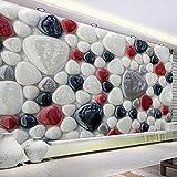Lllyzz Mural De Pared Personalizado Etiqueta De Piso Piedras De Color 3D Pintura De Pared Dormitorio Sala De Estar Baño Piso De Papel Tapiz Decoración-400X280Cm