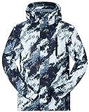 TUONROAD Uomo Snowboard Giacca da Sci Impermeabile Impermeabile Sportswear Outdoor Antivento con Cappuccio con Tasche Multiple Plus Size Blu