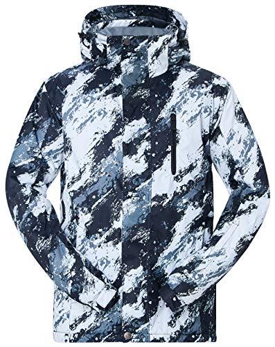 TUONROAD Herren Skijacke Schwarz Snowboardjacke Atmungsaktive Wasserdichte Winter Ski Jacke Blue Funktionsjacke Outdoorjacke | 00799670896845