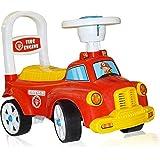 Fire Engine Rider & Push Along Small Magic Car With Music & Storage Box