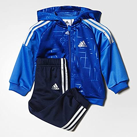 Adidas AY6078 - Tuta per Bambini, Multicolore (Collegiate Royal/Blue/Silver ), taglia 104