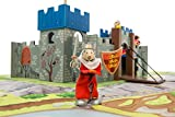 Le Toy Van Wooden Excalibur Castle With Removable Flag, Winding Winch, Prison Tower and Drawbridge