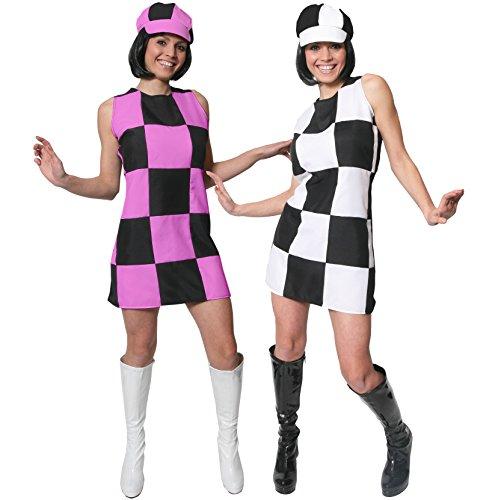 1960s PARTY GIRL KARO KLEIDER IN 2 VERSCHIEDENEN FARBEN UND 6 VERSCHIEDENEN GRÖSSEN = DAS PERFEKTE KOSTÜM FÜR JEDE 60iger GROWING PARTY = DAS KLEID IST ERHALTBAR ROSA/SCHWARZ = ODER (Girl Beatles Kostüm)