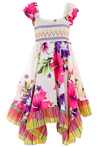 GILLSONZ Neu601vDa Mädchen Kinder Sommer Freizeit Kleid (134/140, Lila(601)) (Mädchen Kleid Kind)