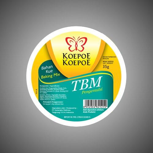 Koepoe-koepoe émulsifiant TBM, 35 Gram - lot de 4