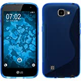 PhoneNatic Coque en Silicone pour LG K4 - S-Style bleu - Cover Cubierta + films de protection