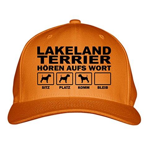 SIVIWONDER CAP - LAKELAND TERRIER Jagd Jagdhund - HÖREN aufs WORT - Baumwoll 6-Panel orange Lakeland Cap