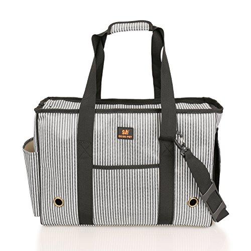 Preisvergleich Produktbild BIGWING STYLE Tragetasche Hund Katze Handtasche / Umhängetasche für Transportieren Kleintiere Haus Tasche Leinwand + Mesh atmungsaktiv und beständig Perfekt für Reisen mit dem Flugzeug oder mit dem Auto 49X20X35CM Pet Maxi Gewicht 4,5 kg
