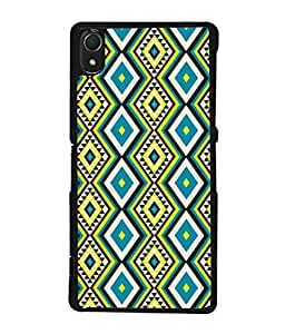 PrintVisa Designer Back Case Cover for Sony Xperia Z2 (5.2 Inches) (Sweet pretty blue green yellow)