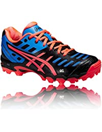 ASICS Gel-Hockey Typhoon Zapatilla de Hockey Señora, Plata/Negro, 35.5