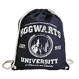 Magic University Sportbag Turnbeutel für Harry Potter Fans Elbenwald blau