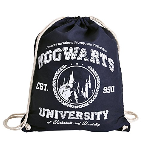 Magic University Sportbag Turnbeutel für Harry Potter Fans Elbenwald blau