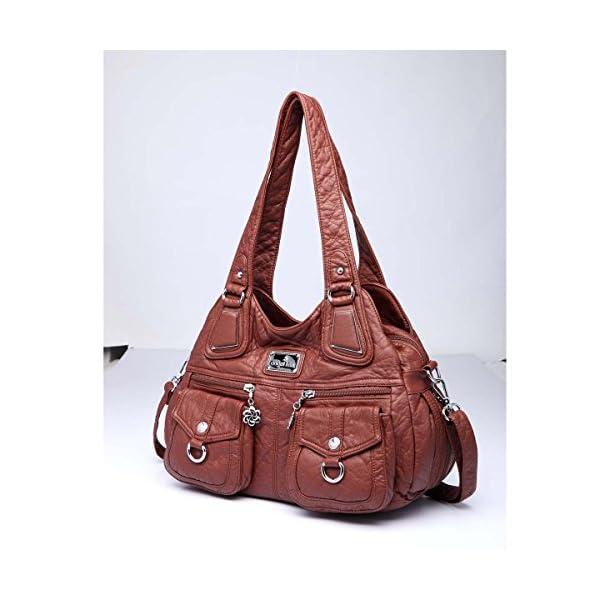 7c8fdf538b ... donnaAngelkiss 3 Top Cerniere multi tasche Borse Lavato borse in pelle  borse a spalla zaino 1593/2. 🔍. Borse donna ...