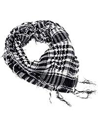f0850b2866a8 ZBYLL Foulards Foulard Femme Fashion Noir et Blanc Palestine Femmes Wrap écharpe  châle Foulard pour Les