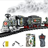 Best Various Electric Train Sets - squarex Remote Control Conveyance Car Electric Steam Smoke Review