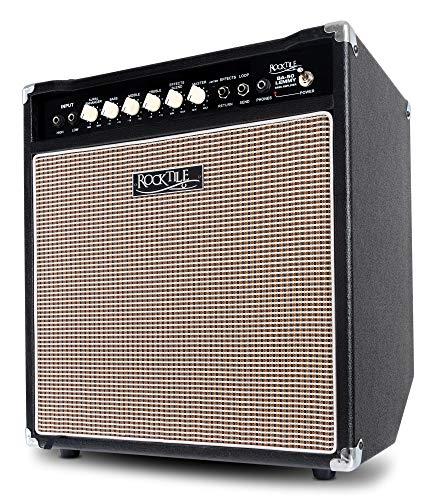 """Rocktile BA-50 Lemmy Basscombo (50 Watt, Kickback-Gehäuse, 12"""" Speaker, mit Effektschleife und Limiter) schwarz"""