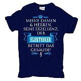 Männer und Herren T-Shirt Seine Exzellenz DER Elektriker