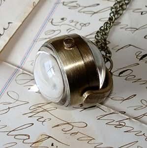 Bijoux vintage romantique vendanges boule de roses blanches blanc antique bronze collier-agrafage et un coffret cadeau