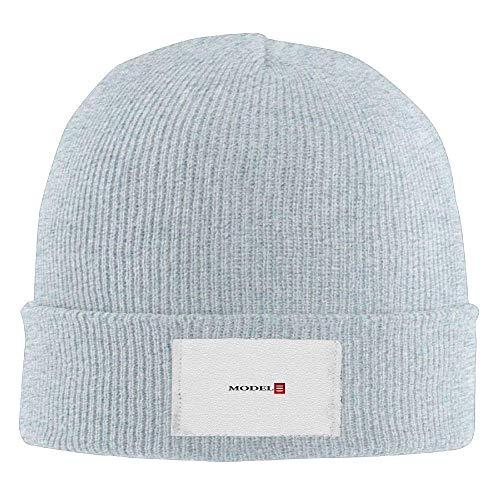 Bgejkos Tesla Model 3 Red Logo Men's Warm Winter Hat Knit Beanie Hat Skull Cap Unisex JH4155