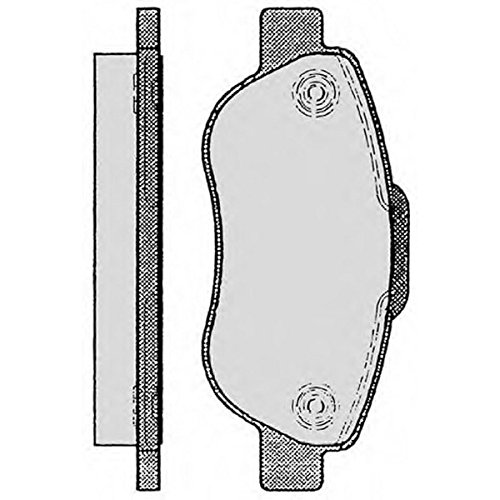 PE04450RB-7868 Kit pastiglie freno Anteriore Permafuse