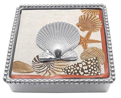 Mariposa Scallop Shell Beaded Napkin Box by Mariposa Mariposa Shell