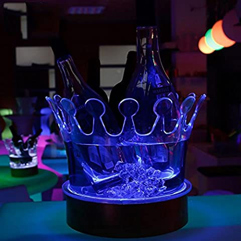QINQIN Carga LED barras de cama transparente acrílico luminiscente KTV corona rojo hielo cubitera