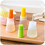 we3 Silicone Cooking Oil Bottle with Basting Brush Cooking Bottle Baster Oil Butter