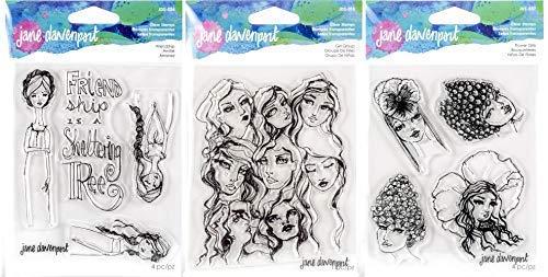 Jane Davenport Artomology Stempel für Freundschaft, Mädchen und Blumen, transparent -