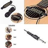 silenceban Gitarre Pickup Akustische Elektrische Wandler für Akustik Gitarre, Kabel Länge 10ft