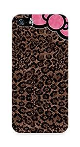 Amez designer printed 3d premium high quality back case cover for Apple iPhone SE (leopard bow)