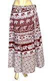 Indian Wrap Skirt Printed Cotton Gypsy S...