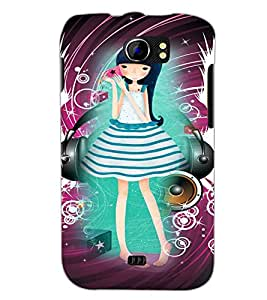 PrintDhaba Cute Girl D-4108 Back Case Cover for MICROMAX A110Q CANVAS 2 PLUS (Multi-Coloured)