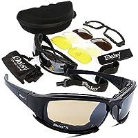 Gafas de Ciclismo-Vovotrade 4 Lens Kit Army Goggles Militares Gafas de Sol Hombres Deportes al Aire Libre War Game Tactic,Gafas de Sol Hombre Polarizadas UV400 Protección (Multicolor)