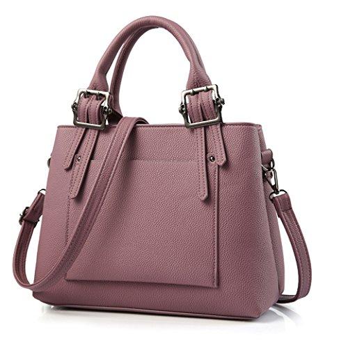 Damen Handtaschen Elegante Modisch Neue PU Leder Umhängetasche für Lady Weibliche Schultertasche Weinrot Dunkel Purpur
