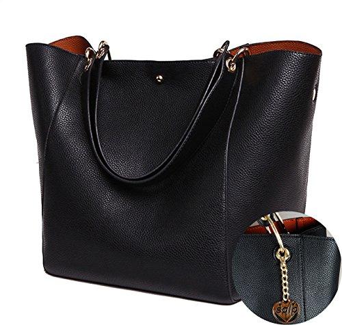 SQLP Donna semplicemente Pelle Shopper elegant Borse a mano Borse a tracolla