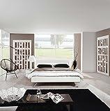 Bett, Schlafbereich, Komfortbett, Schlafzimmer, Hochglanz, Lack, Weiß, Beleuchtung