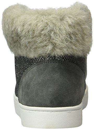 Clarks Kids Pattieminx, Sneakers Hautes Fille Gris (Silver Synthetic)