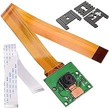 Kuman Módulo Cámara para Raspberry Pi de 5MP 1080p con Sensor OV5647 y cable de 15 Pin FPC + Cable plano Pi Zero de 15cm + 3 Montajes ajustables de la cámara para Raspberry Pi 3, 2 modelo B B+ A+ Pi Zero SC09