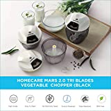 Homecare Mars Kitchen master 2.0 Tri Blades Vegetable Chopper - Beater with Convenient Pull Cord Mechanism attached Lid and BPA free Plastic Container - 650 ML [Black]
