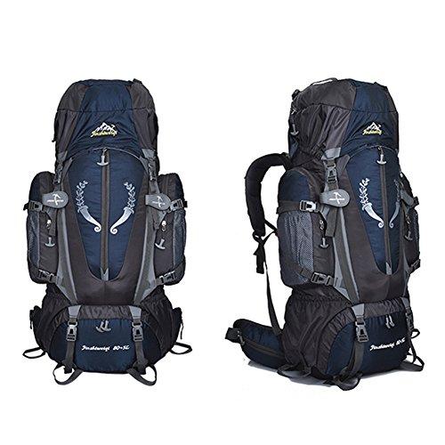 Fastar Large 80+ 5L hiking camping sport all' aperto zaino impermeabile multiuso zaini arrampicata per outdoor trekking campeggio sci Travelling, Blue Darkblue